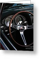1965 Corvette Roadster Dash Greeting Card