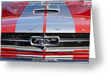 1965 Ford Mustang Front End Greeting Card