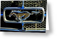 1965 Ford Shelby Mustang Grille Emblem Greeting Card