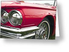 1965 Ford Thunderbird Front End Greeting Card