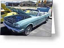 1965 Mustang Convertible Greeting Card