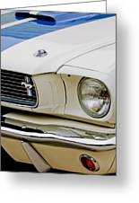 1966 Ford Shelby Gt 350 Grille Emblem Greeting Card