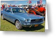 1966 Mustang Greeting Card