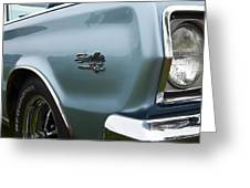 1966 Plymouth Satellite Commando V8 Greeting Card