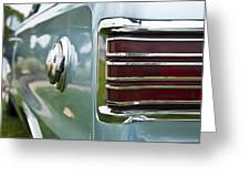 1966 Plymouth Satellite Tail Light Greeting Card