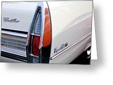 1967 Cadillac Coupe Deville Taillight Greeting Card