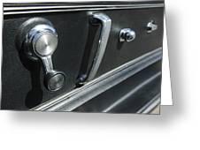 1967 Chevrolet Corvette Door Controls Greeting Card