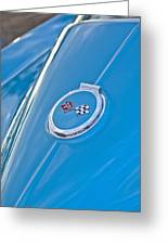 1967 Chevrolet Corvette Rear Emblem Greeting Card