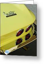 1967 Chevrolet Corvette Taillight Greeting Card