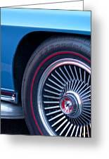 1967 Chevrolet Corvette Wheel 2 Greeting Card