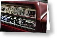 1967 Oldsmobile Cutlass 4-4-2 Dashboard Greeting Card