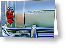 1967 Volkswagen Vw Karmann Ghia Taillight Emblem Greeting Card