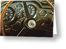 1968 Aston Martin Db6 Steering Wheel Emblem Greeting Card