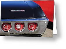 1968 Chevrolet Impala Ss Taillight Emblem Greeting Card