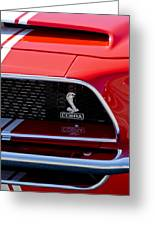 1968 Ford Mustang 427 Ci Fastback Grille Emblem Greeting Card