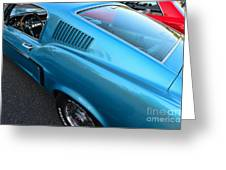 1968 Ford Mustang Fastback  Profile Greeting Card