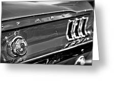1968 Ford Mustang Gt B/w Greeting Card