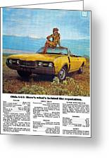 1968 Oldsmobile 4-4-2 - Here's What's Behind The Reputation. Greeting Card