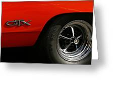 1969 Plymouth Gtx Hemi Greeting Card