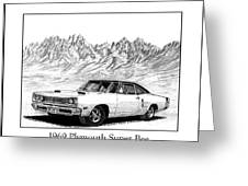 1969 Plymouth Super Bee Greeting Card by Jack Pumphrey