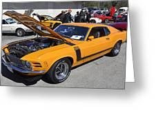 1970 Boss Mustang Greeting Card