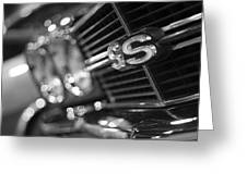 1970 Chevy Chevelle Ss 396 Black And White Greeting Card