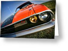 1970 Dodge Challenger Rt Hemi Orange Greeting Card