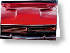 1971 Dodge Challenger - Red Mopar Typography Greeting Card