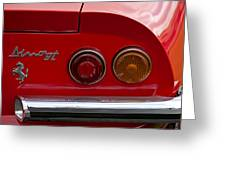 1972 Ferrari Dino 246gt Taillight Emblem Greeting Card
