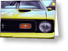 1972 Ford Mustang Mach 1 Greeting Card