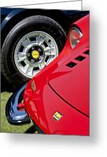 1973 Ferrari 246 Gts Dino Emblem 5 Greeting Card