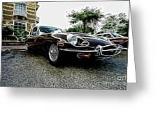 1973 Jaguar Type E Fantasy  Greeting Card