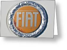 1977 Fiat 124 Spider Emblem Greeting Card