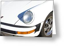 1987 White Porsche 911 Carrera Front Greeting Card