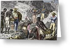 19th-century Diamond Mining, Brazil Greeting Card
