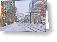 1st Real Snow Golddome 2012 Greeting Card