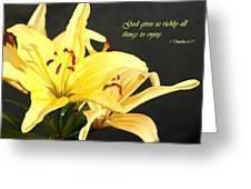 1st Timothy Flower Greeting Card