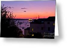 Sunrise Falmouth Docks Greeting Card