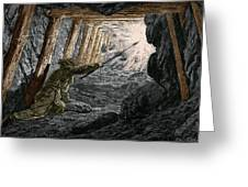 19th-century Coal Mining Greeting Card