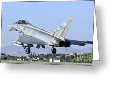 A Eurofighter F-2000 Of The Italian Air Greeting Card