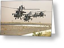 A Group Of Ah-64d Apache Helicopters Greeting Card