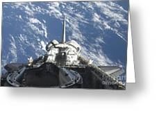 A Partial View Of Space Shuttle Greeting Card