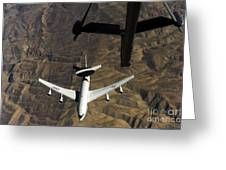 A U.s. Air Force E-3 Sentry Aircraft Greeting Card