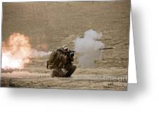 A U.s. Contractor Fires Greeting Card