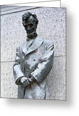 Abraham Lincoln Statue Greeting Card