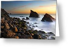 Adraga Beach Greeting Card