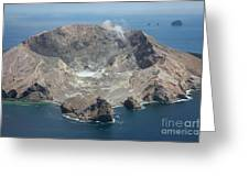 Aerial View Of White Island Volcano Greeting Card