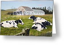 Afternoon In The Pasture Greeting Card