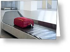Airport Baggage Claim Greeting Card by Jaak Nilson