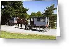 Amish Buggies Greeting Card